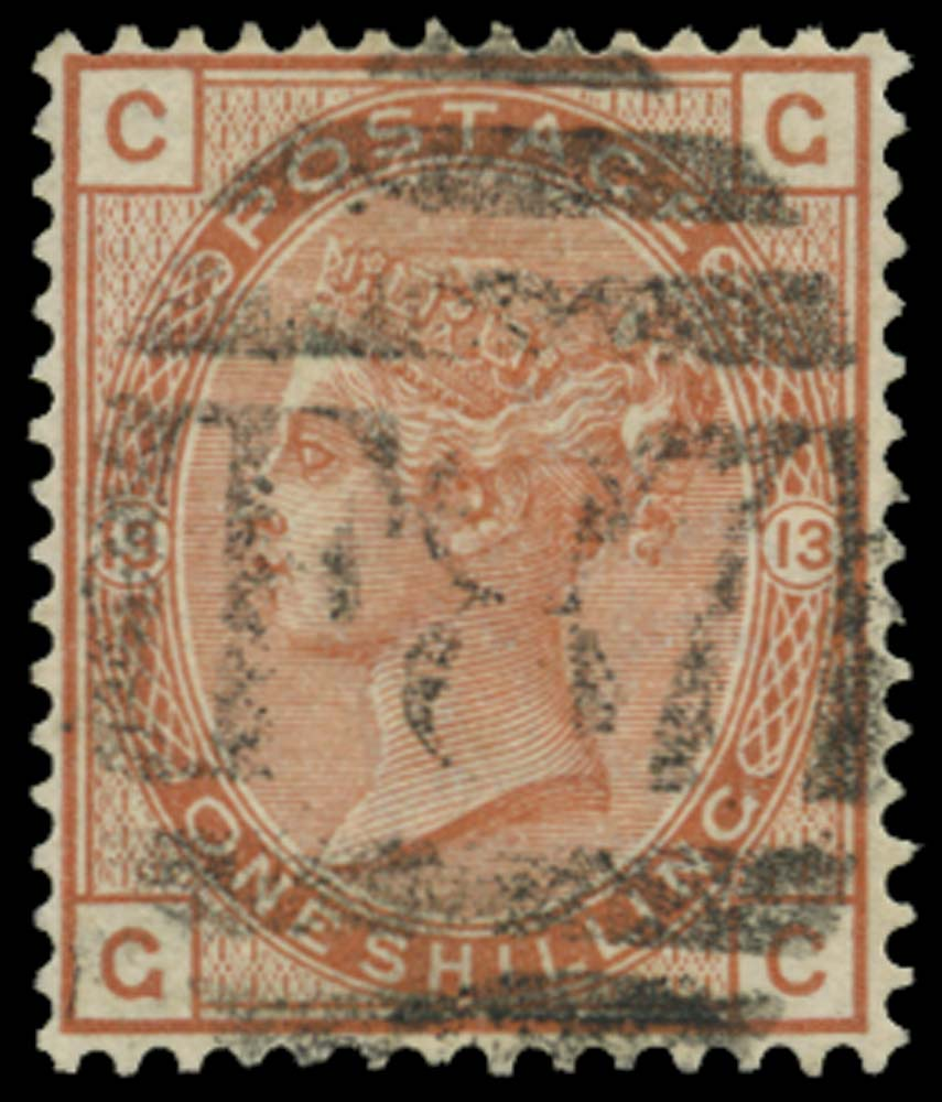 BRITISH LEVANT 1881  SGZ240 Pl.13 Cancel