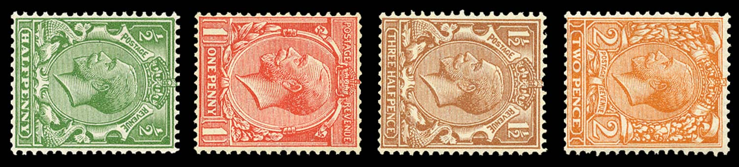GB 1924  SG418/21b Mint (Wmk. Sideways)