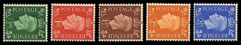 GB 1938-40  SG462/6a Mint (Wmk. Sideways)
