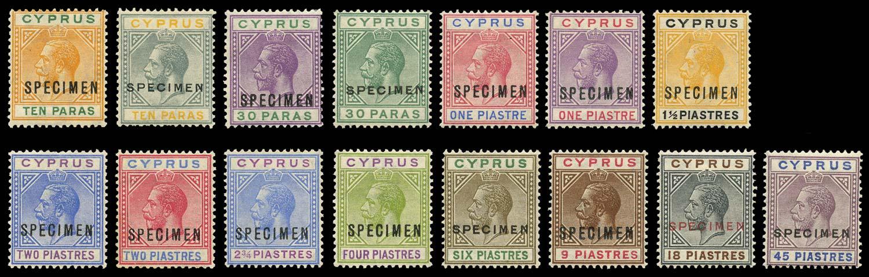 CYPRUS 1921  SG85s/99s Specimen