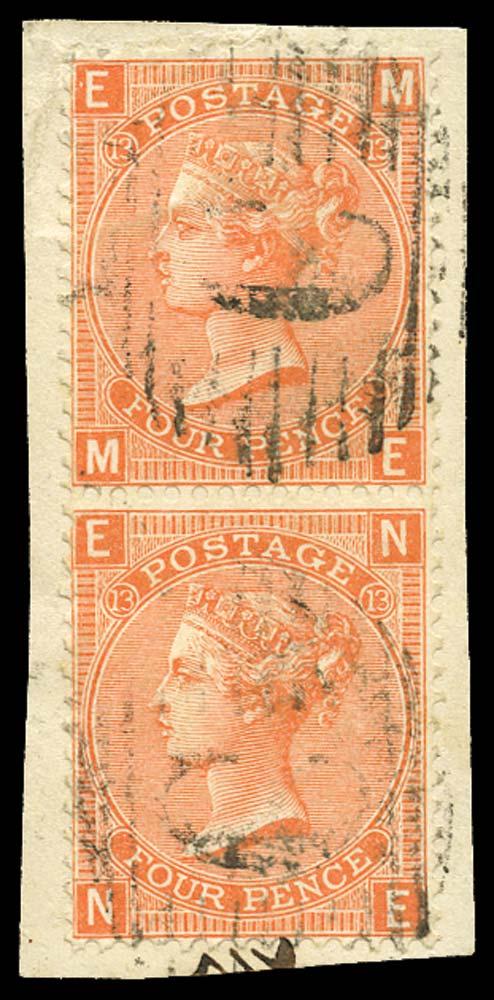 BRITISH LEVANT 1865  SGZ92 Pl.13 Cancel
