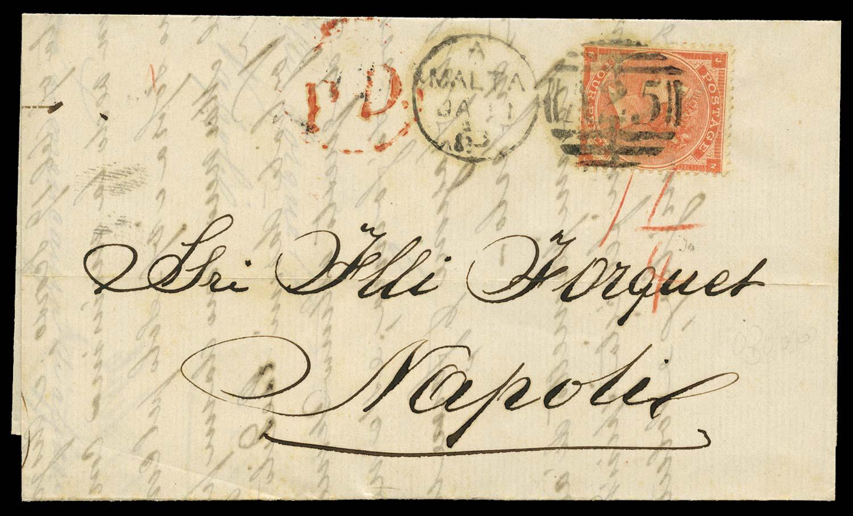 MALTA 1863  SGZ48 pl.3 Cover