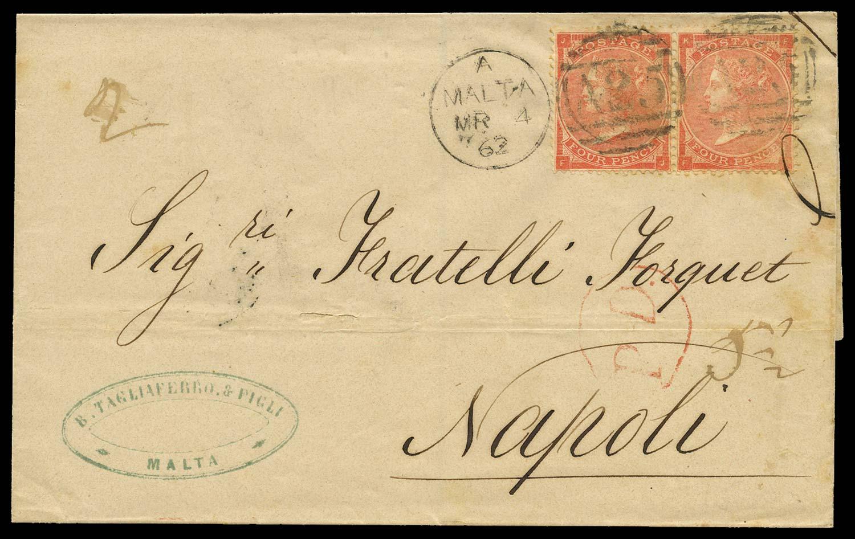 MALTA 1862  SGZ48 pl.3 Cover