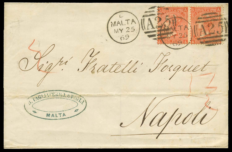 MALTA 1869  SGZ49 Cover