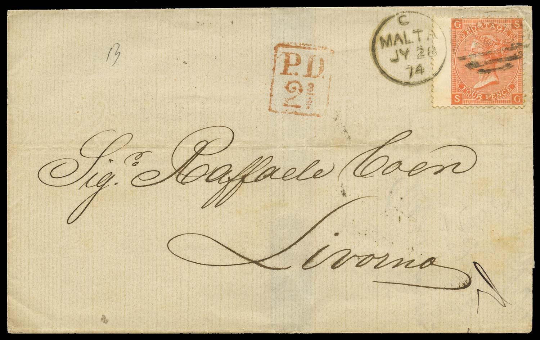 MALTA 1874  SGZ49 Cover