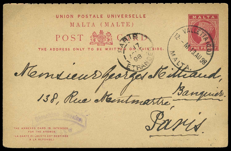 MALTA 1898 Cover