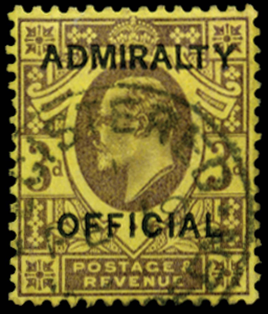 GB 1903  SGO106 Official 3d (Admiralty Official) Registered