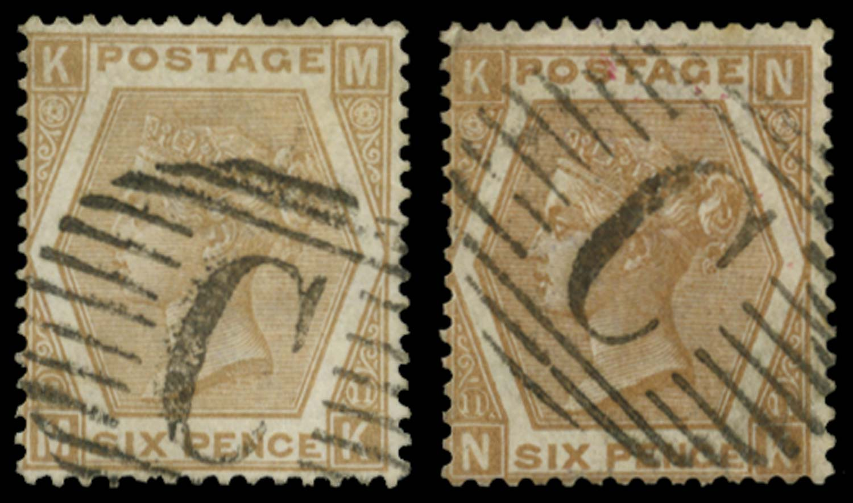 BRITISH LEVANT 1872  SGZ102/3 Pl.11 Cancel
