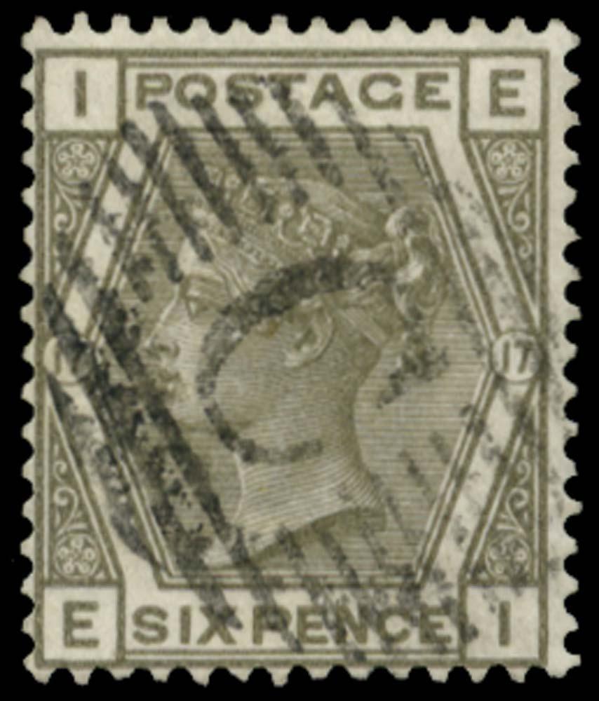 BRITISH LEVANT 1881  SGZ106 Pl.17 Cancel