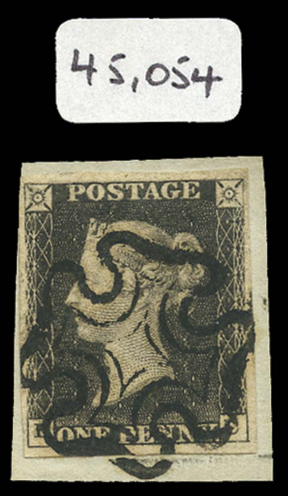 GB 1840  SG3 Pl.11 Penny Black