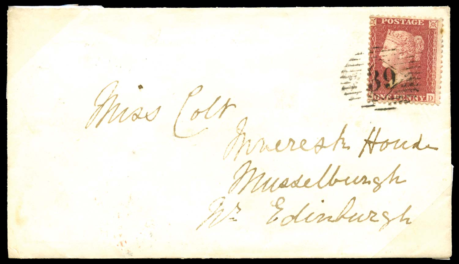 GB 1858  SG40 Pl.46 Cover from HMS Racer
