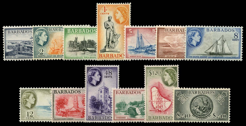 BARBADOS 1953  SG289/301 Mint
