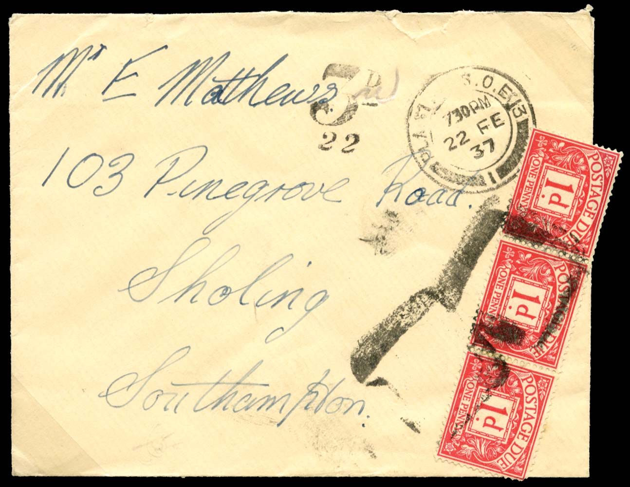 GB 1937  SGD11 Postage Due