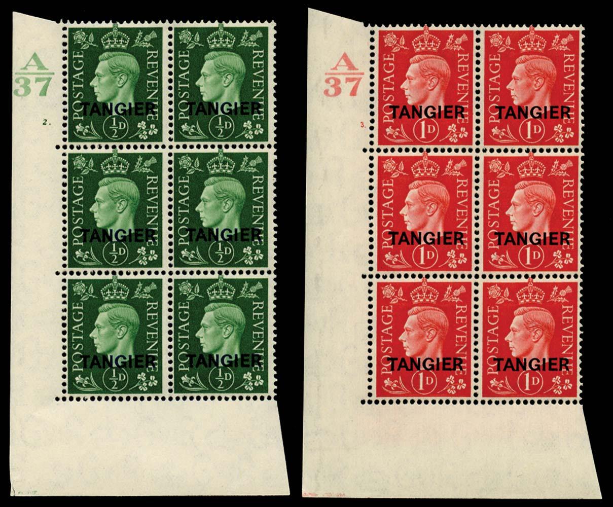 MOROCCO AGENCIES 1937  SG245/6 Mint