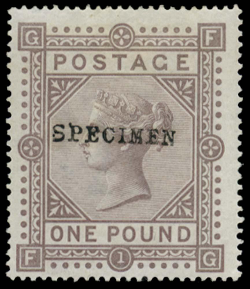 GB 1878  SG129s Specimen