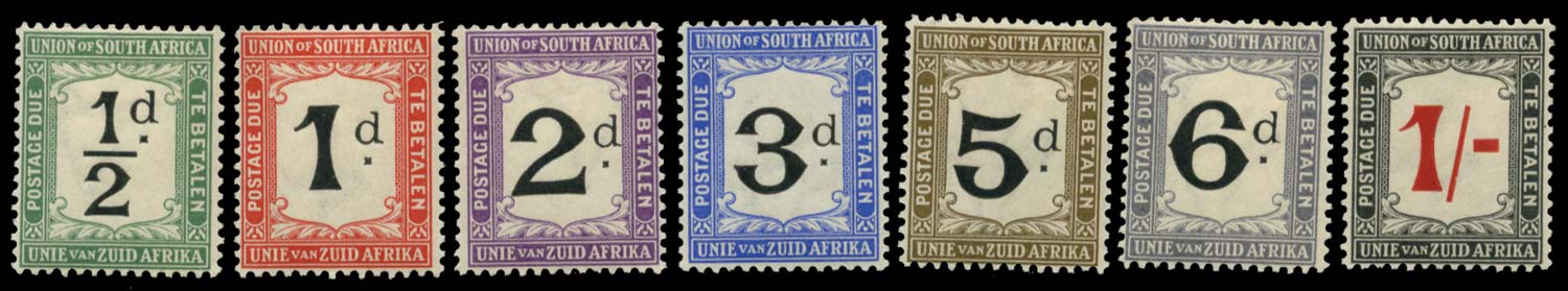 SOUTH AFRICA 1926  SGD1/7 Postage Due