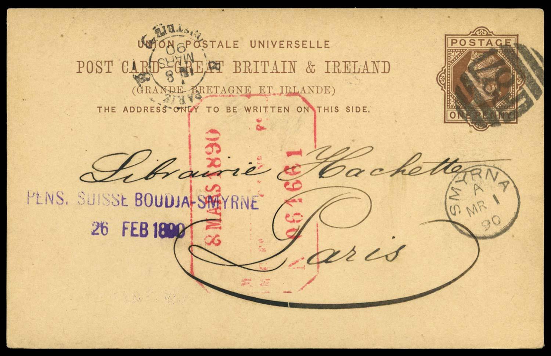 BRITISH LEVANT 1890 Cover