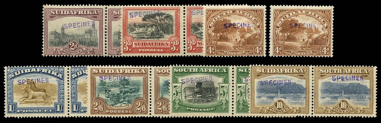 SOUTH AFRICA 1927-30  SG34s/9s Specimen