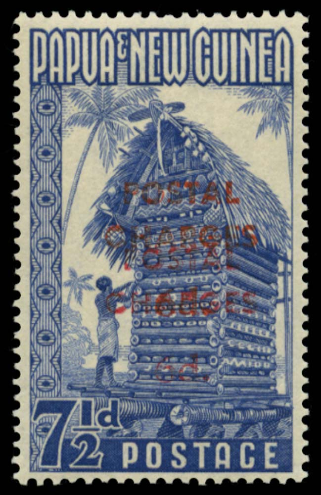 PAPUA NEW GUINEA 1960  SGD4a Postage Due