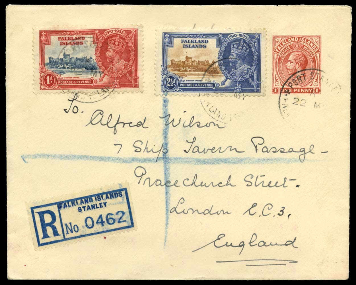 FALKLAND ISLANDS 1935  SG139, 140 Cover