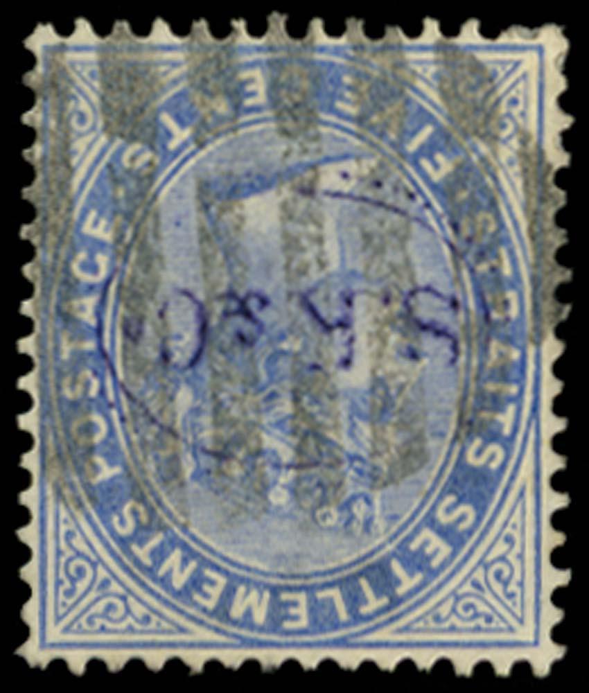 MALAYA - STRAITS 1883  SG65w Used