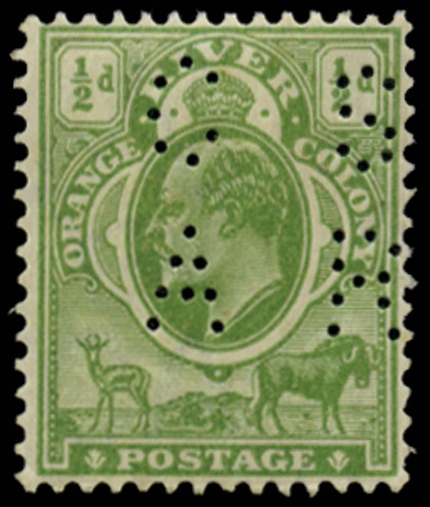 ORANGE FREE STATE 1907  SGRO8 Official