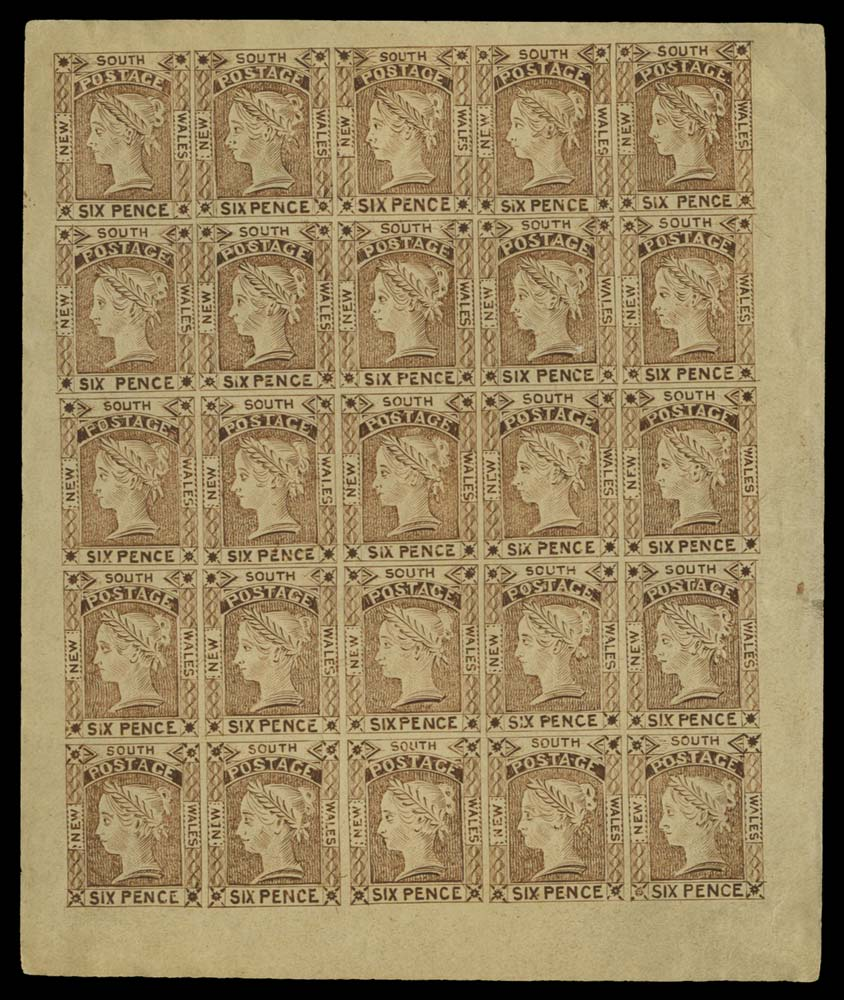 NEW SOUTH WALES 1852  SG77/8 Reprint