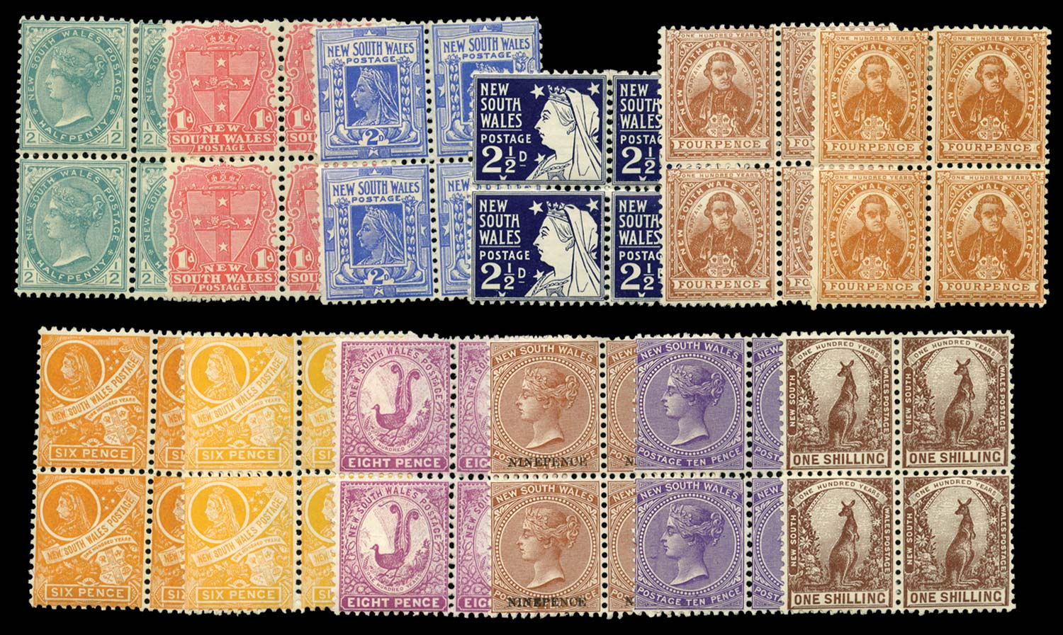 NEW SOUTH WALES 1899  SG298/311 Mint