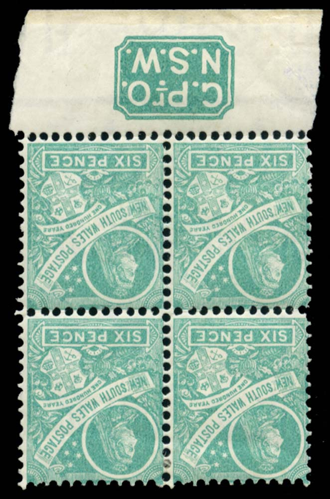 NEW SOUTH WALES 1898  SG297fb Mint