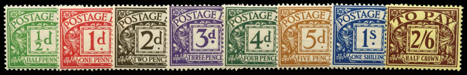 GB 1936-37  SGD19/26 Postage Due