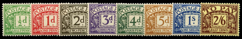 GB 1936-37  SGD19/26 Postage Due