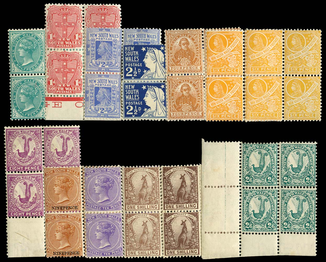 NEW SOUTH WALES 1902  SG313/26 Mint