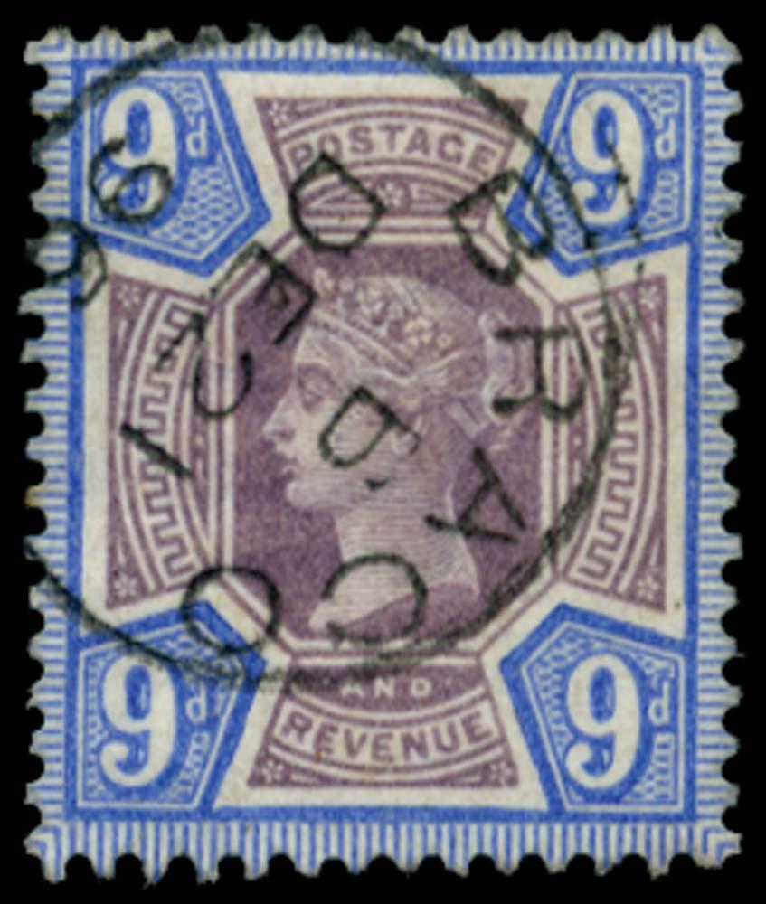 GB 1887  SG209 Used Braco cds