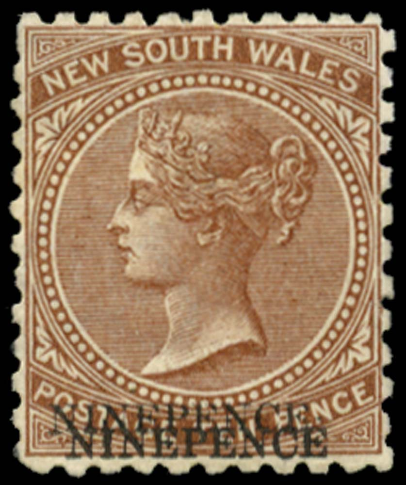 NEW SOUTH WALES 1882  SG236dca Mint