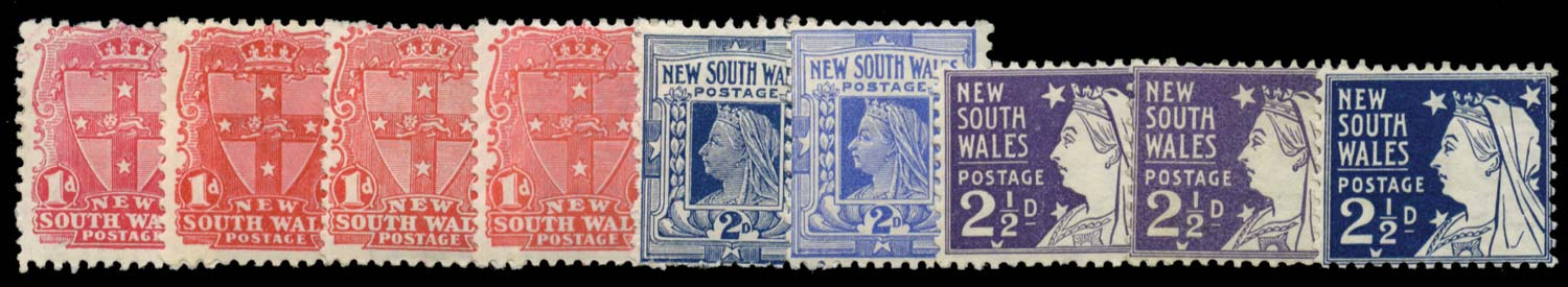 NEW SOUTH WALES 1897  SG288a/97a Mint