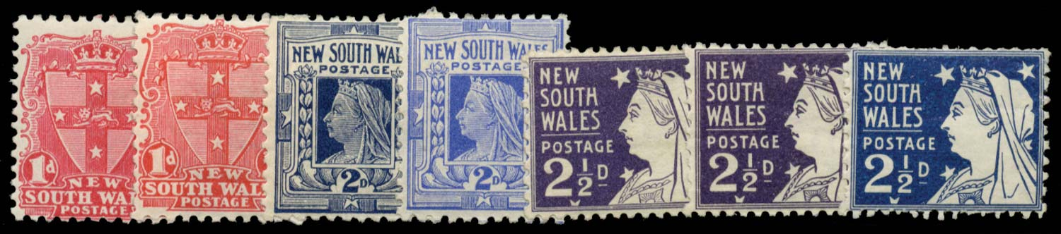 NEW SOUTH WALES 1897  SG288/97 Mint
