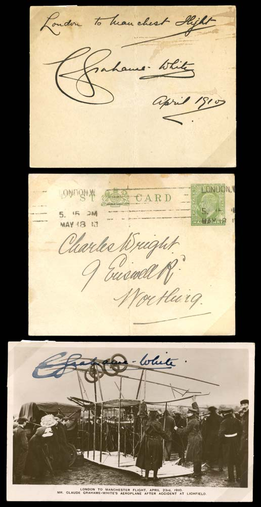 GB 1910 Cover - London to Manchester Air Race