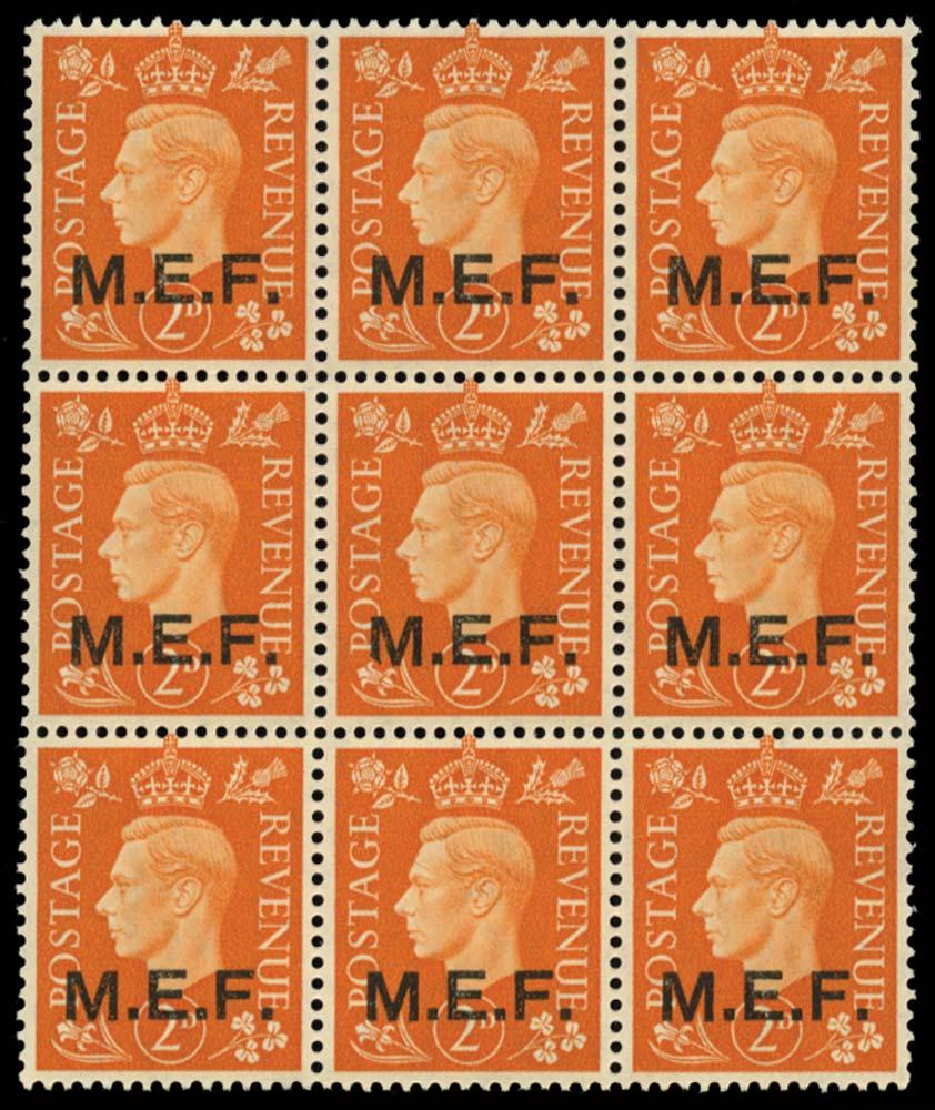 B.O.I.C. - M.E.F. 1942  SGM2/a Mint