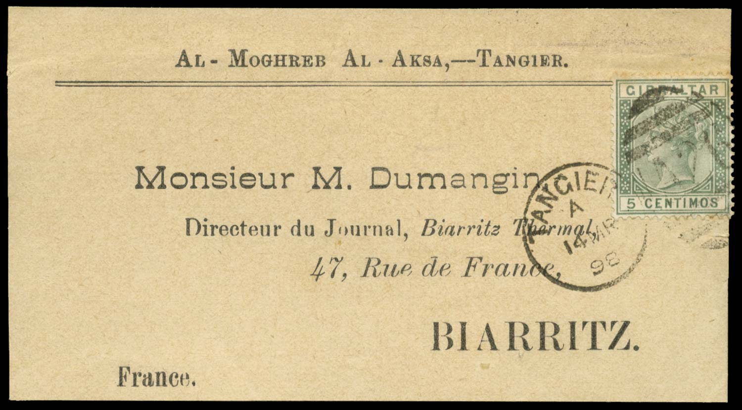 MOROCCO AGENCIES 1898  SGZ141 Cover