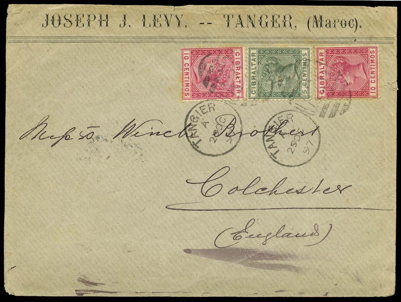 MOROCCO AGENCIES 1897  SGZ141/2 Cover