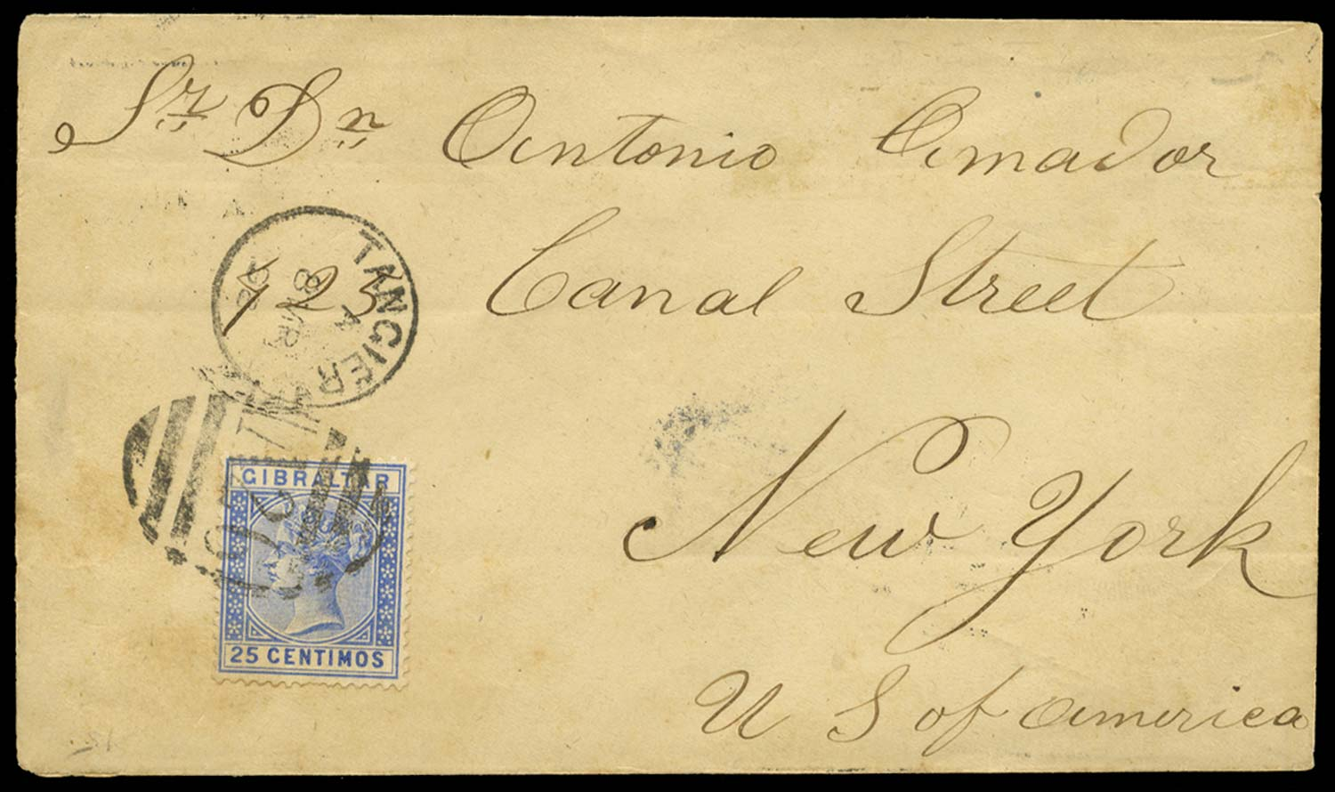 MOROCCO AGENCIES 1898  SGZ145 Cover
