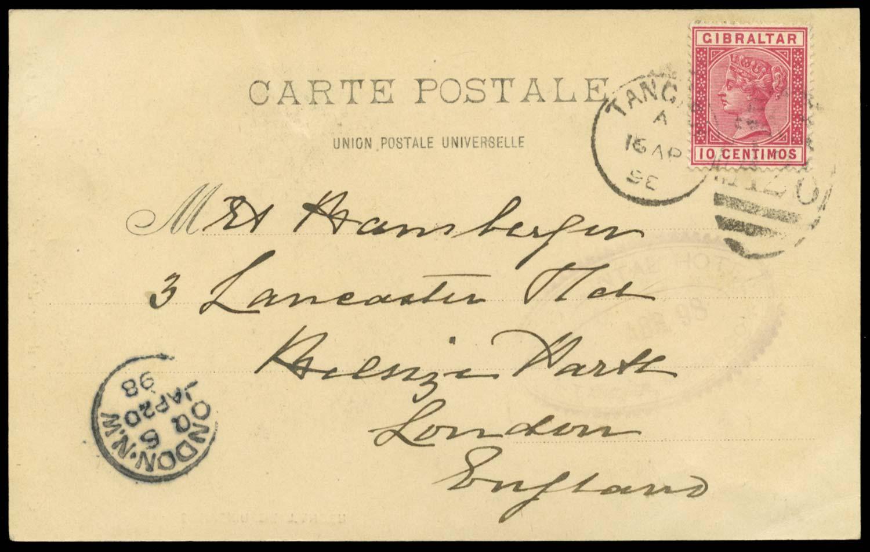 MOROCCO AGENCIES 1898  SGZ142 Cover