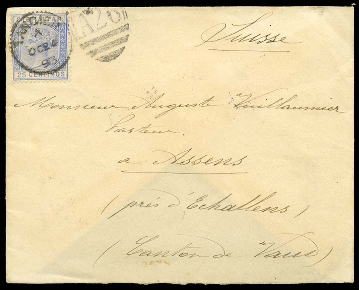 MOROCCO AGENCIES 1893  SGZ145 Cover