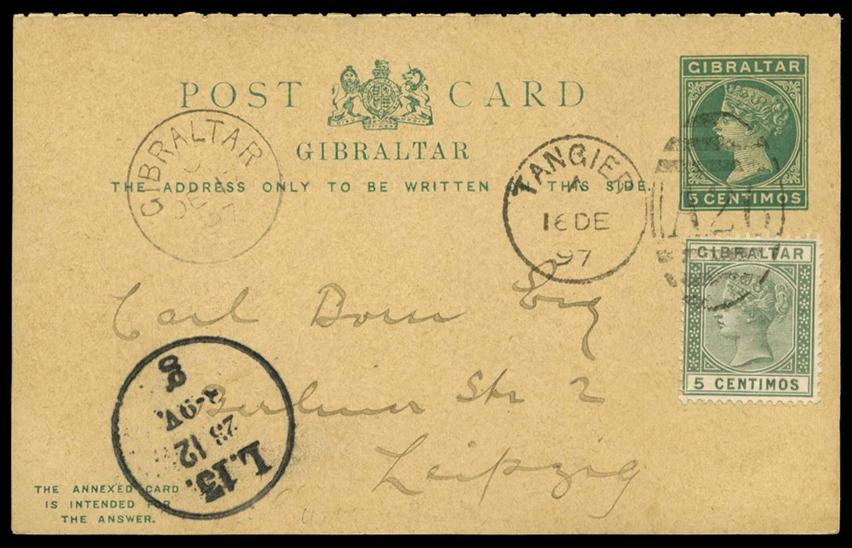 MOROCCO AGENCIES 1897  SGZ141 Cover