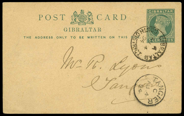 GIBRALTAR 1894 Cover