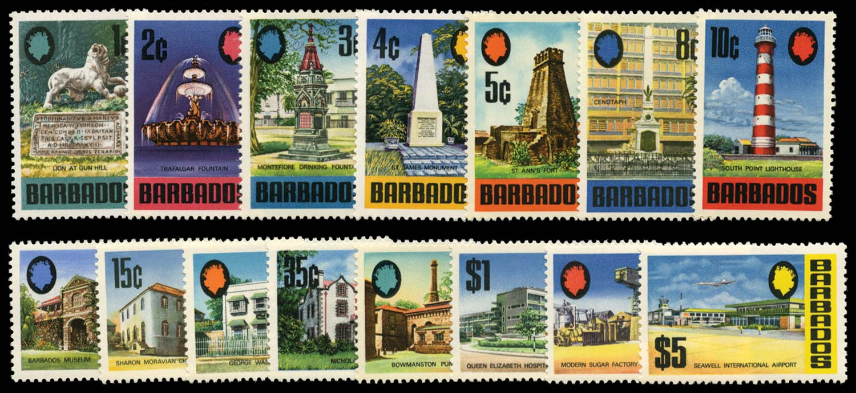 BARBADOS 1970  SG399a/414a Mint