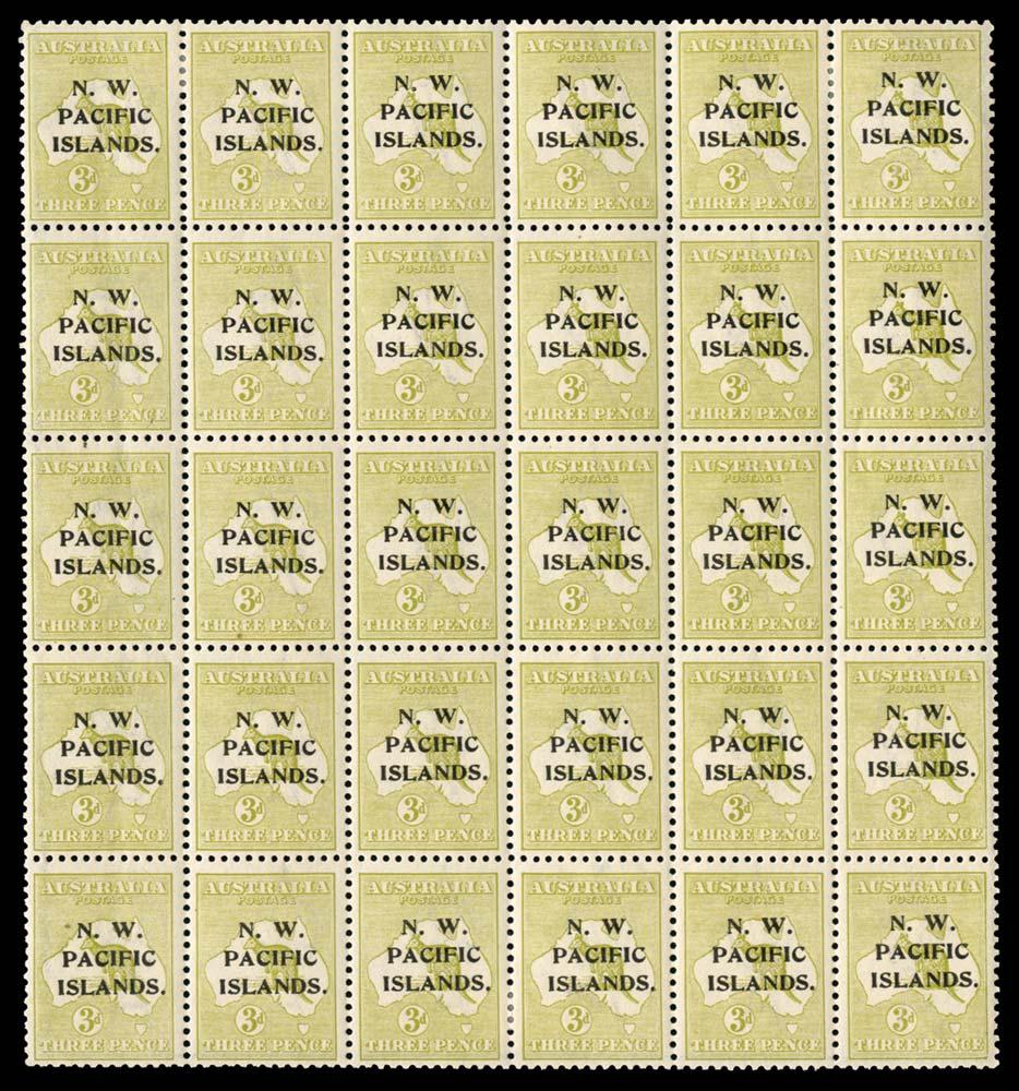 NEW GUINEA 1918  SG109/a/ab Mint