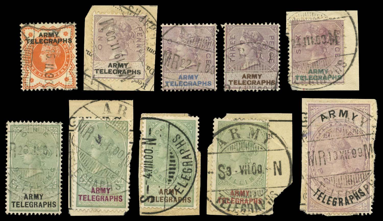 SOUTH AFRICA 1899-1900  SGAT1-6,8-12 Telegraph