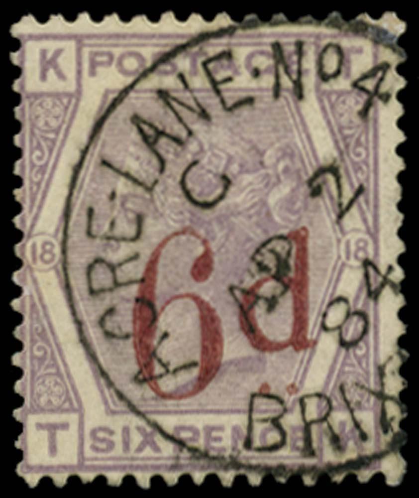 GB 1883  SG162 Pl.18 Used Acre Lane No.4 Brixton cds