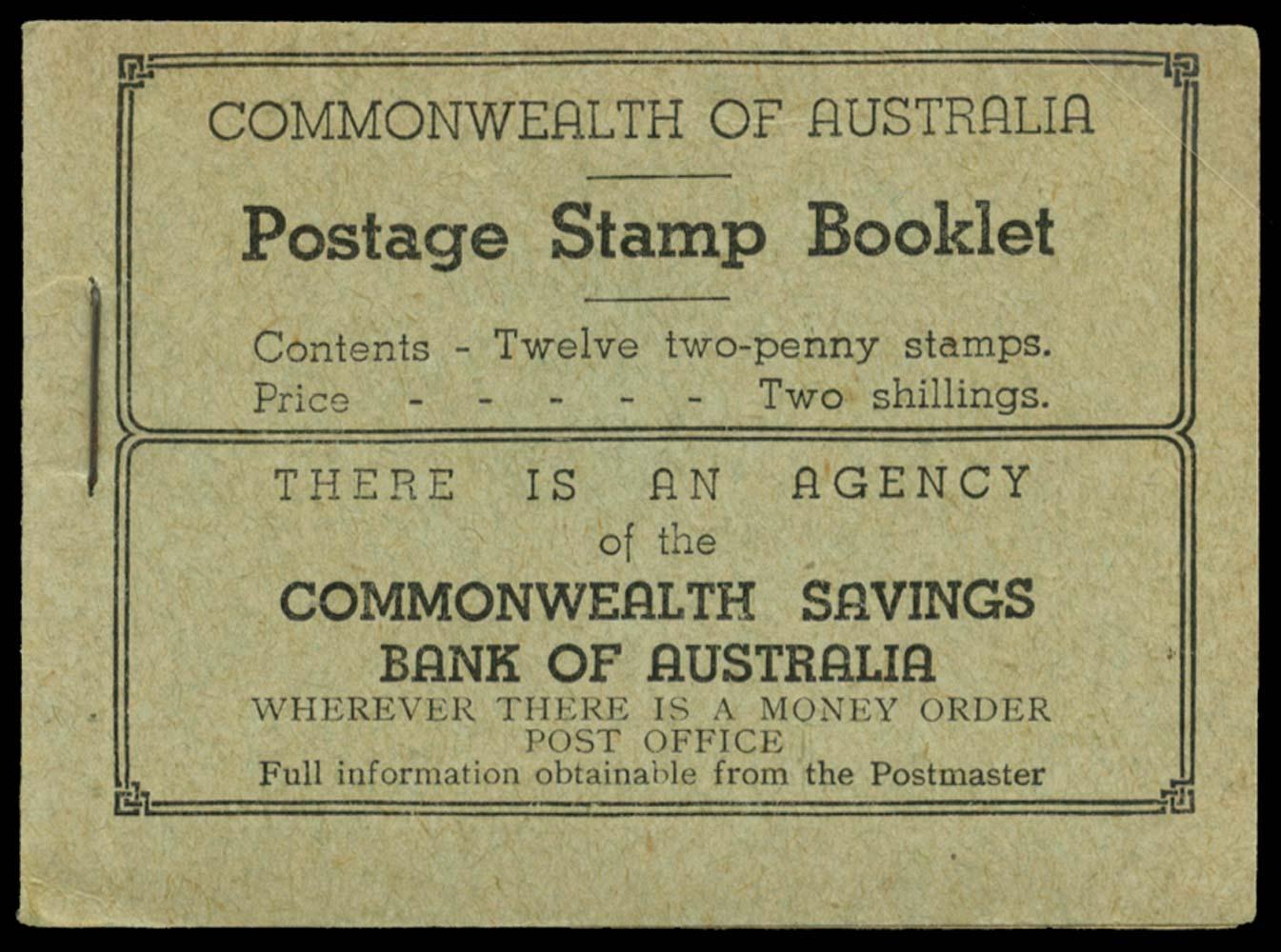 AUSTRALIA 1935  SGSB26c Booklet